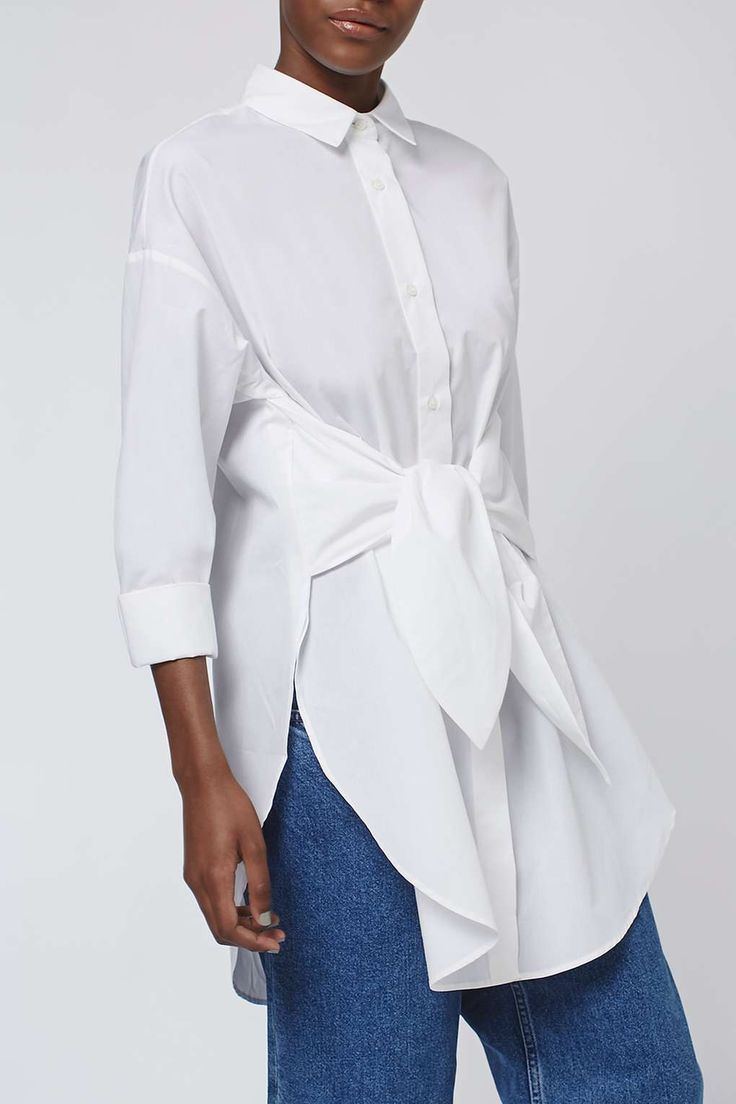 Tie Tunic Shirt by Boutique - Topshop