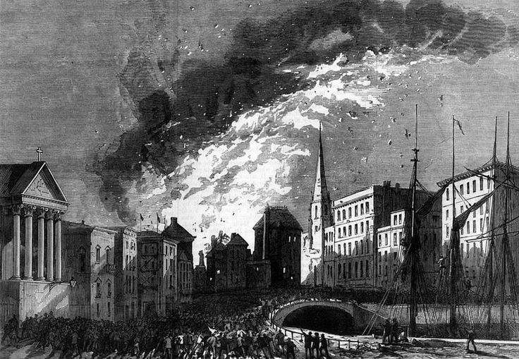 The Great Fire at Bristol 1876