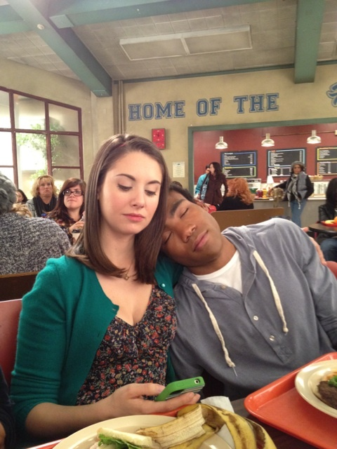 Alison Brie and Donald Glover. #SaveCommunity