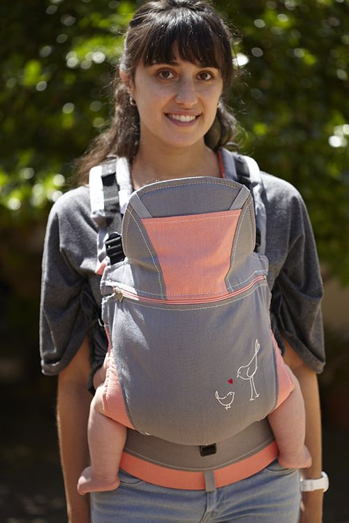 POD Baby Carriers Dove Grey and Mango Organic Hemp Backpack Baby Carrier R950 http://podbabycarriers.com/shop/baby-carriers/dove-grey-and-mango-organic-hemp-backpack-baby-carrier/