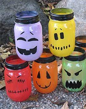 Halloween Mason Jar Lantern Light Craft Idea