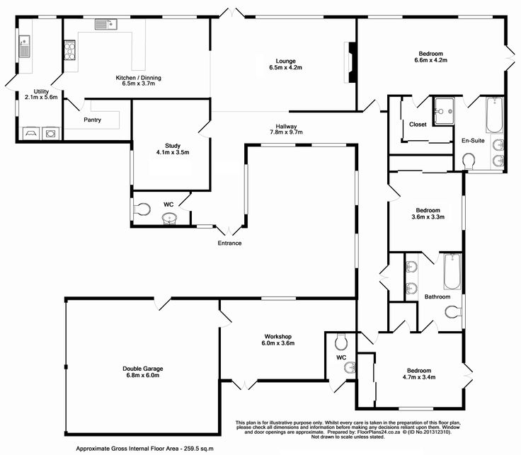 Classic Layout - 3 Bedroom - 259 sq.m - FloorPlans24 delivers a solution that works for YOU – Talk to us…