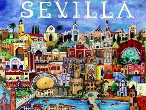 Caricatura de Sevilla