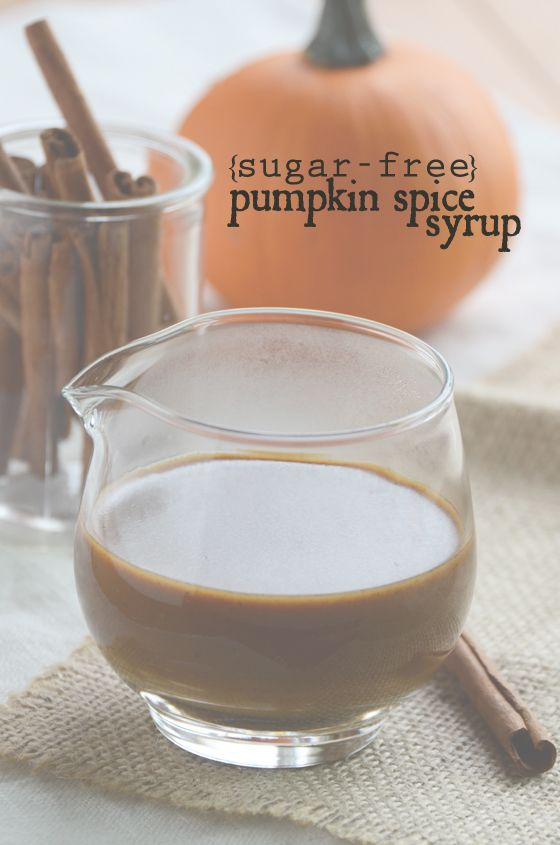 Pumpkin spice syrup (sugar-free) - use if to make pumpkin spice latte, or as a topping for oatmeal, pudding, ice cream, pie, etc.