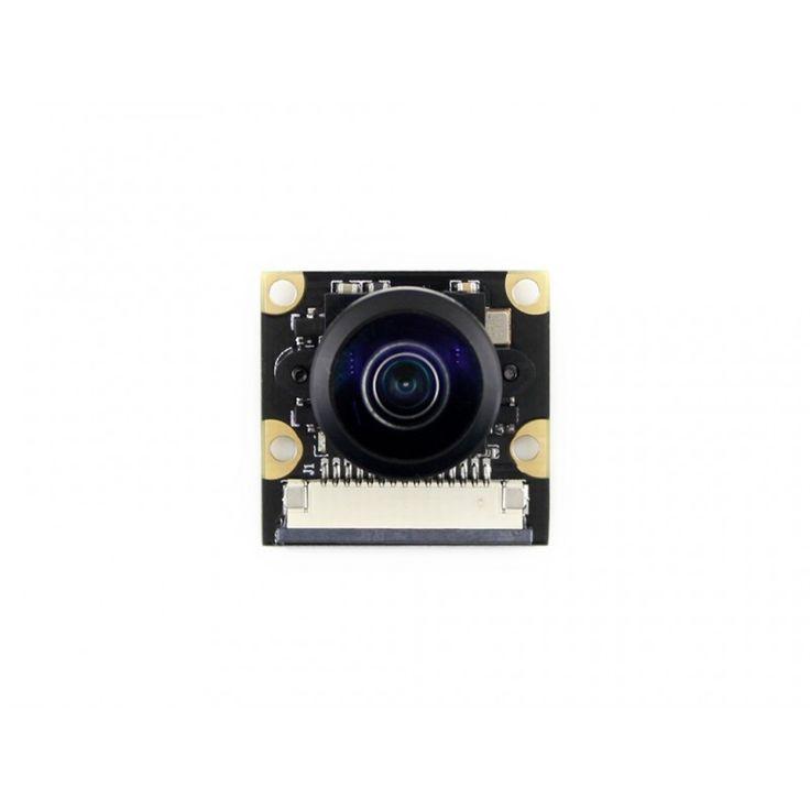 Waveshare New Raspberry Pi Camera Module Kit (J) Fisheye Lens 222 Degree Field of View 5MP OV5647 Sensor for RPi 3B/2B/B/B+/A
