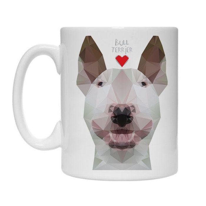 Mug Geometric Bull Terrier, Dog Bull Terrier by PSIAKREW on Etsy