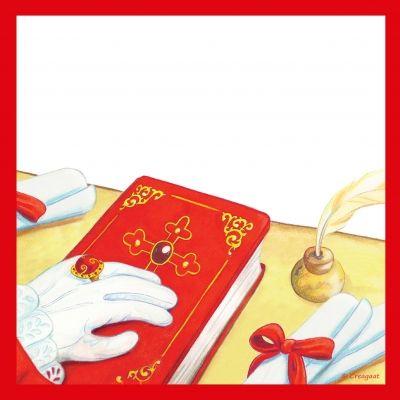 Wenskaart, het grote boek van Sinterklaas