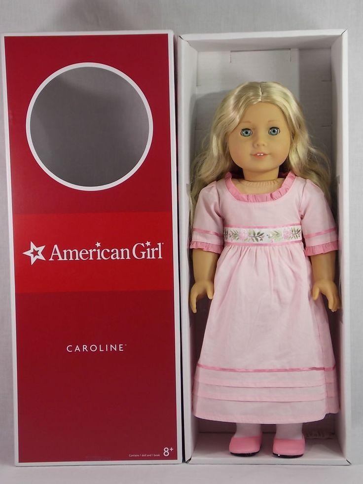 American girl caroline doll with book blonde blue eyes