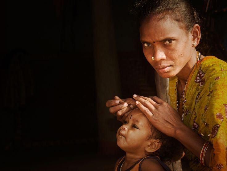 Kinderen in Orissa (gemaakt in Orissa)