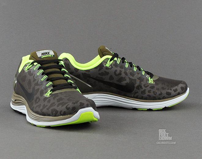 Nike lunarglide 5 shield cheetah in dark loden black volt.