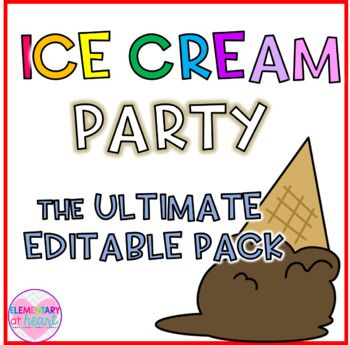 What better way to end a successful school year with an ice cream party!!! This pack has EVERYTHING you need to have an amazing ice cream party for your kiddos! Included: Over 35 pages! - Invitations ( large and small) - Welcome Sign - Welcome Banner