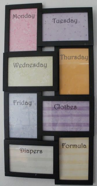 This idea is gold! ... Little Stars Learning: Home Childcare Specific Picture Frame Dry Erase