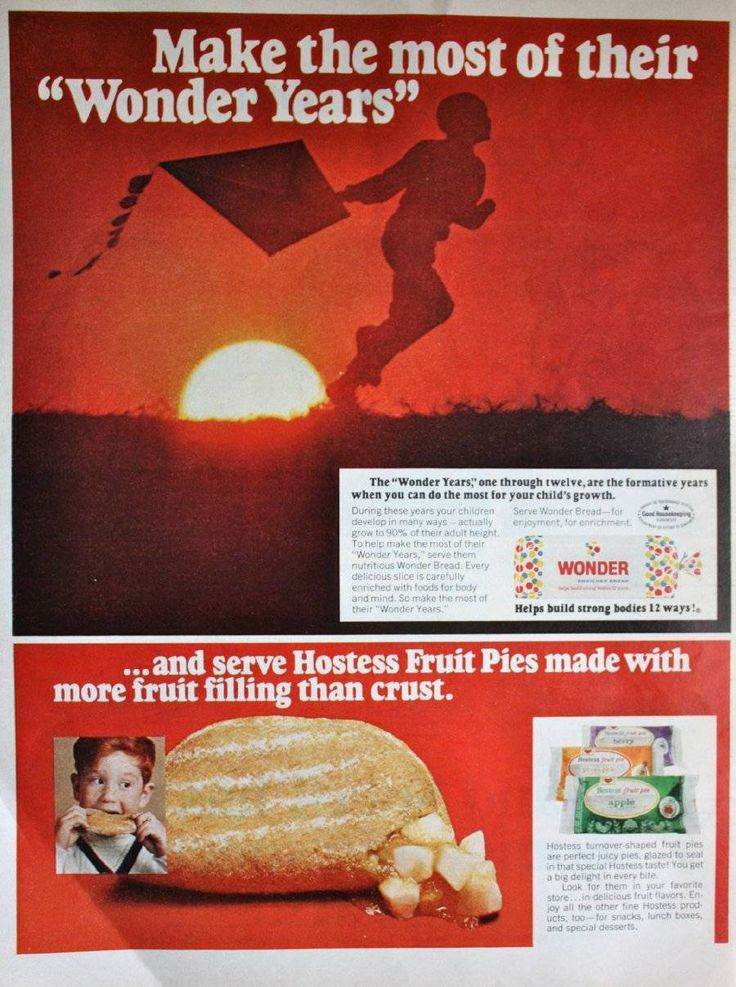 1968 Ad Wonder Bread Hostess Fruit Pie Original Print Ad | eBay
