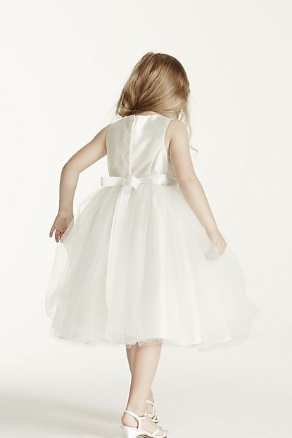 20827e5860a8 Flower Girl Dress with Tulle and Ribbon Waist