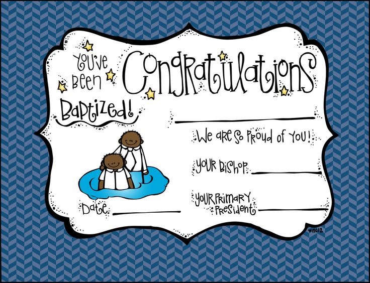 158 best Baptism images on Pinterest Church ideas, Lds primary - baptism certificate