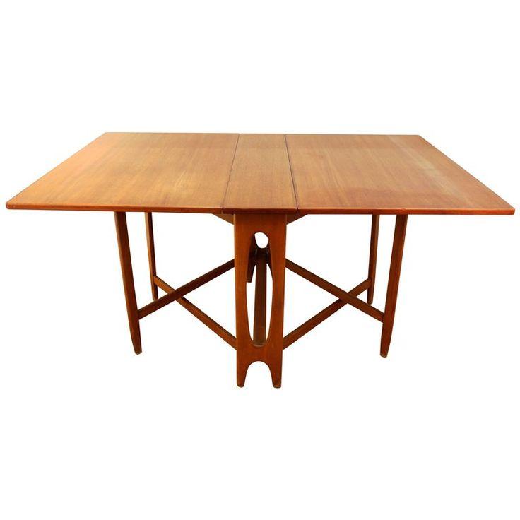 Mid Century Modern Style Teak Folding Dining Table