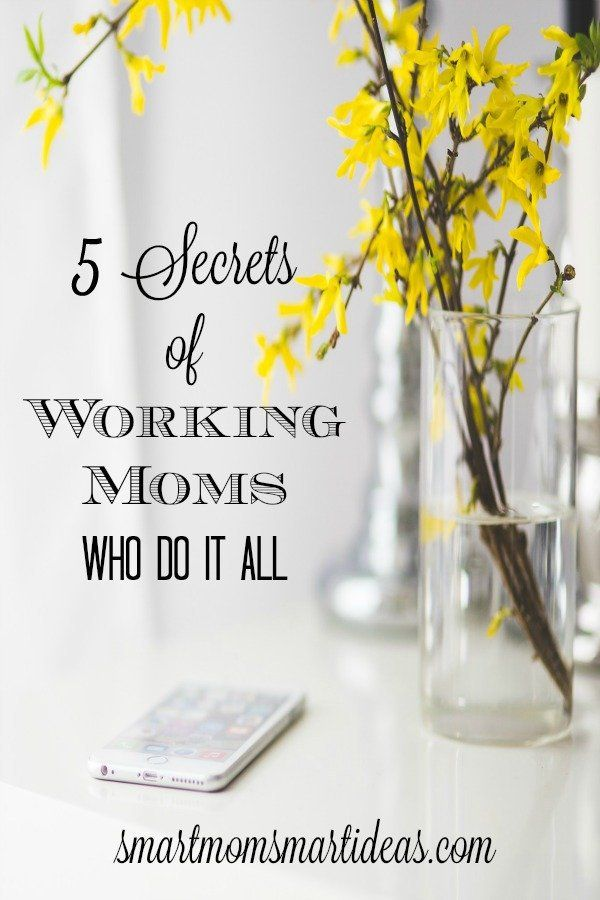 I love these tips for working moms! Do you ever wonder how some moms seem like they get so much done? Find out their secrets!