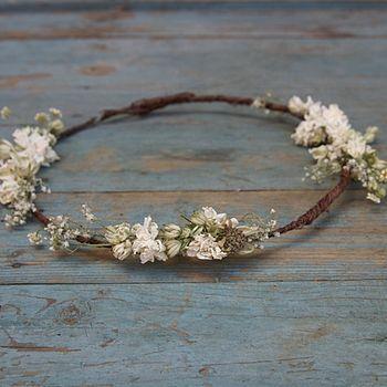 Wild Meadow Dried Flower Hair Circlet