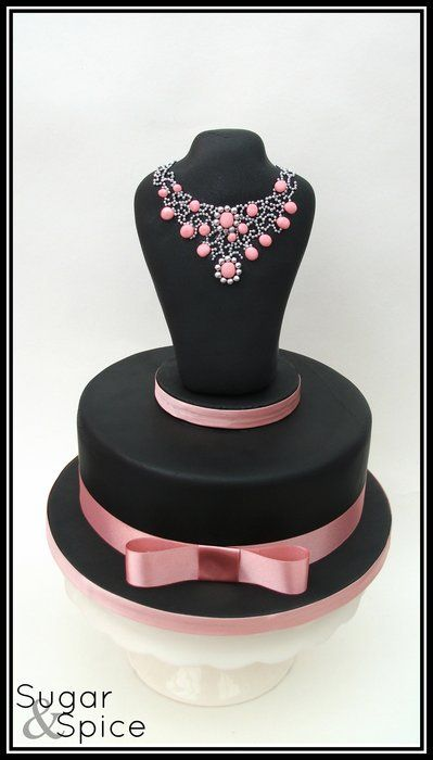 chocolate mud with an RKT topper deco'd with fondant stones and dragees  -- https://www.facebook.com/SugarandSpiceGourmandise