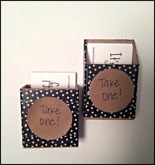 #DIY business card holder  www.itssooofluffy.blogspot.com