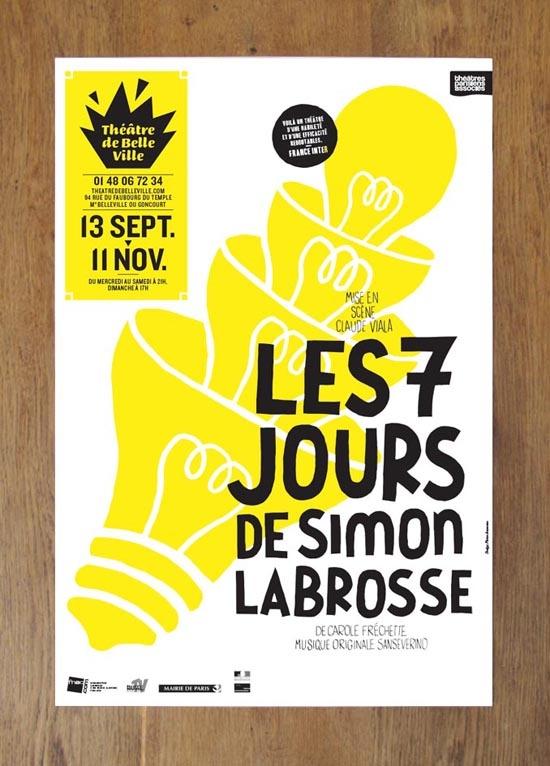 Poster for Théâtre de Belleville by Pierre Jeanneau.