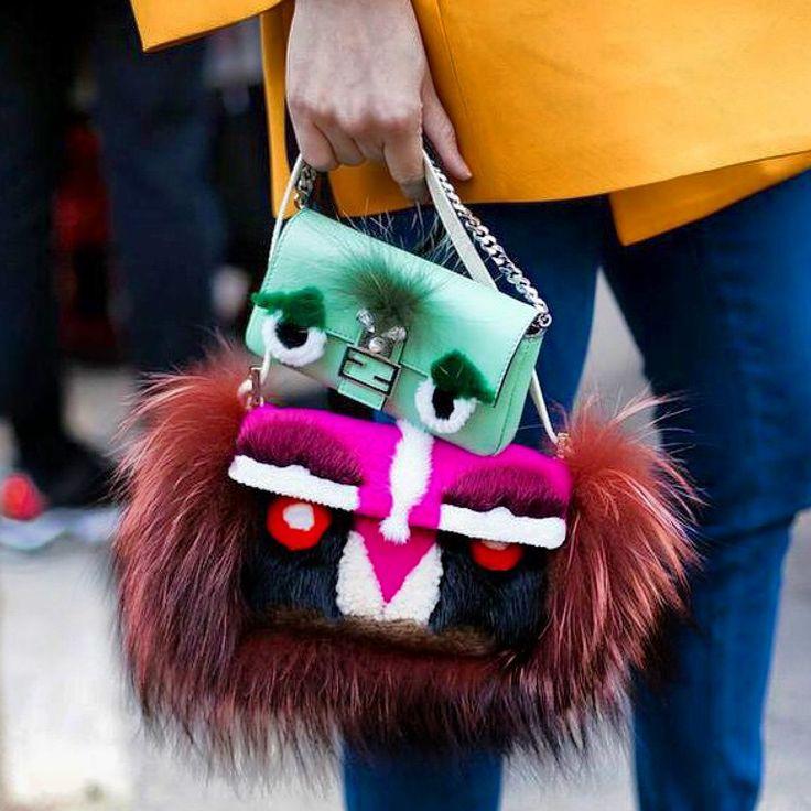 Fendi baguette and micro baguette bags⭐️Instagram @isiljakob⭐️loveit️streetstyle streetfashion fashionweek