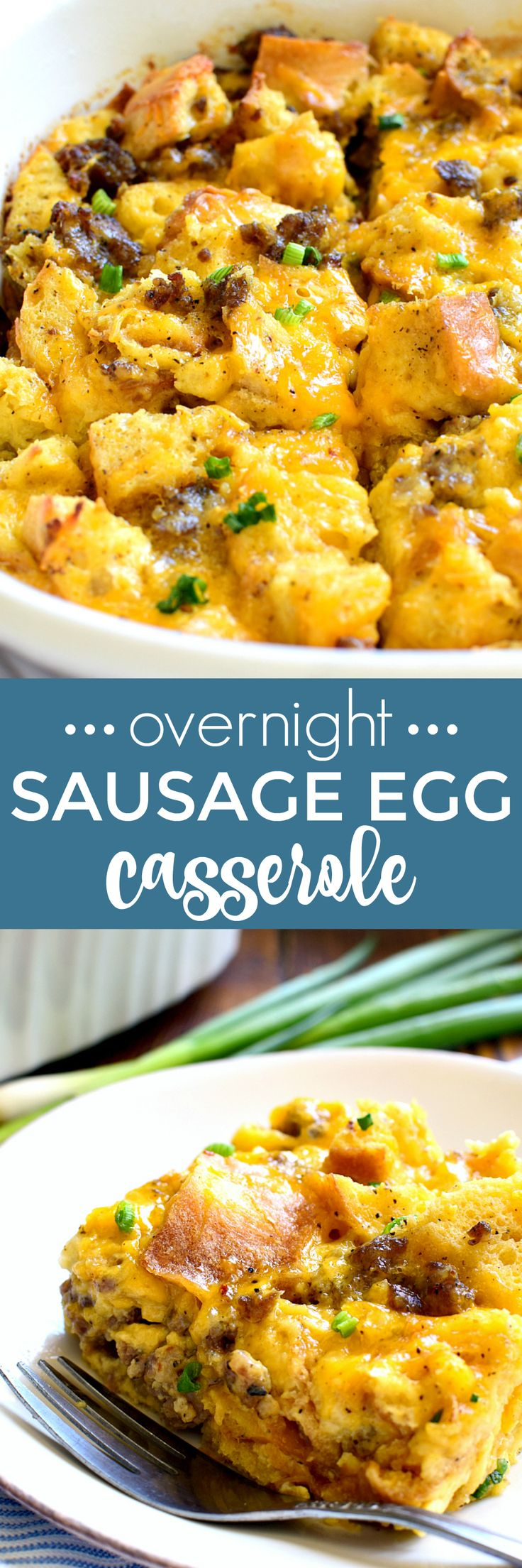 This Overnight Sausage Egg Casserole is a delicious addition to any breakfast! Perfect for holidays or special occasions, this easy egg casserole can be prepped in advance and popped in the oven the next morning. Your family will love the simple, delicious flavors of this classic egg casserole....guaranteed to become a favorite! #crystalfarmscheese #cheeselove #ad @crystalfarms