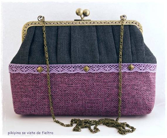 Bolso - Clutch Love Fucsia, Bolsos y carteras, Bolsos, Vintage, Bolsos, Bodas, Bolsos