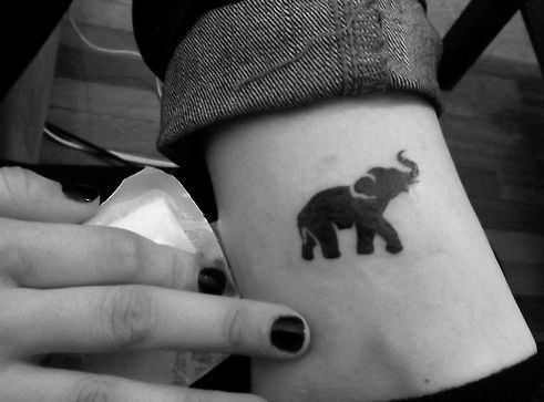 51 Cute and Impressive Elephant Tattoo Ideas - The small ones are super cute