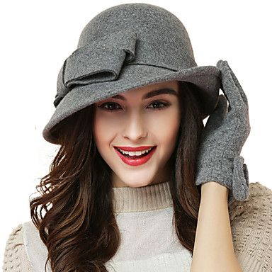 Women+Wool+Bowler/Cloche+Hat+,+Cute/Party/Work/Casual+All+Seasons+–+USD+$+29.99