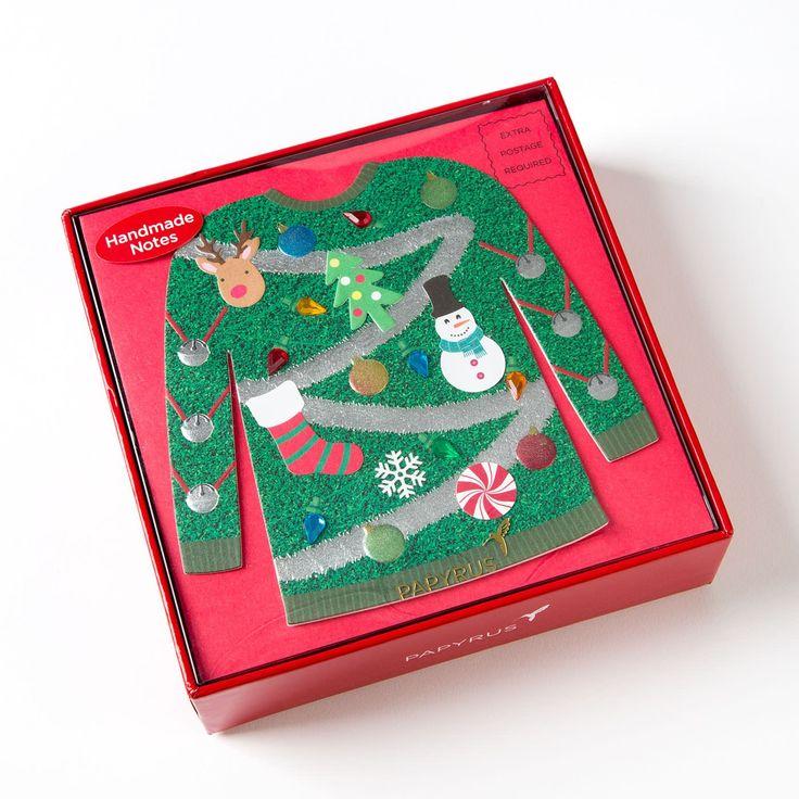 Handmade Tacky Christmas Sweater Boxed Holiday Cards (Set of 8)