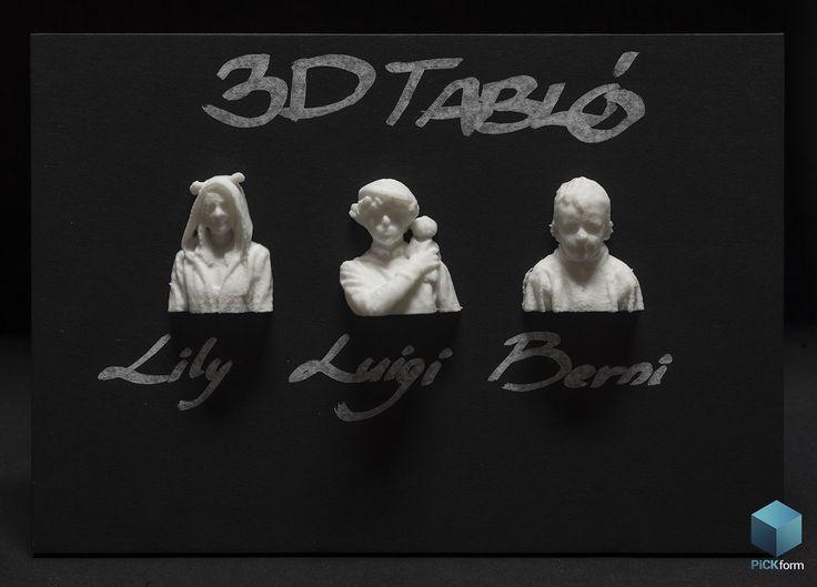 3D rinted Portrait photo. #3Dprint #RepRap #PLA #Photo