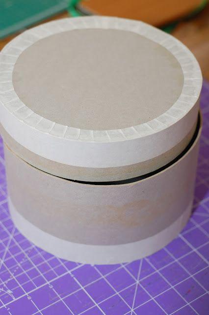 Круглая коробочка из картона с крышкой своими руками 133
