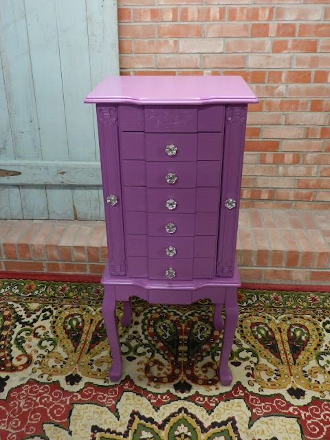 jewelry armoire redo in purple | furniture / painting