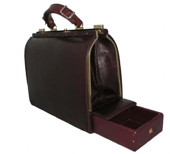 Lederer De Paris Vintage Lizard Purse Mallete Travel Bag With Secret Compartment And Secure Es Pinterest Bags