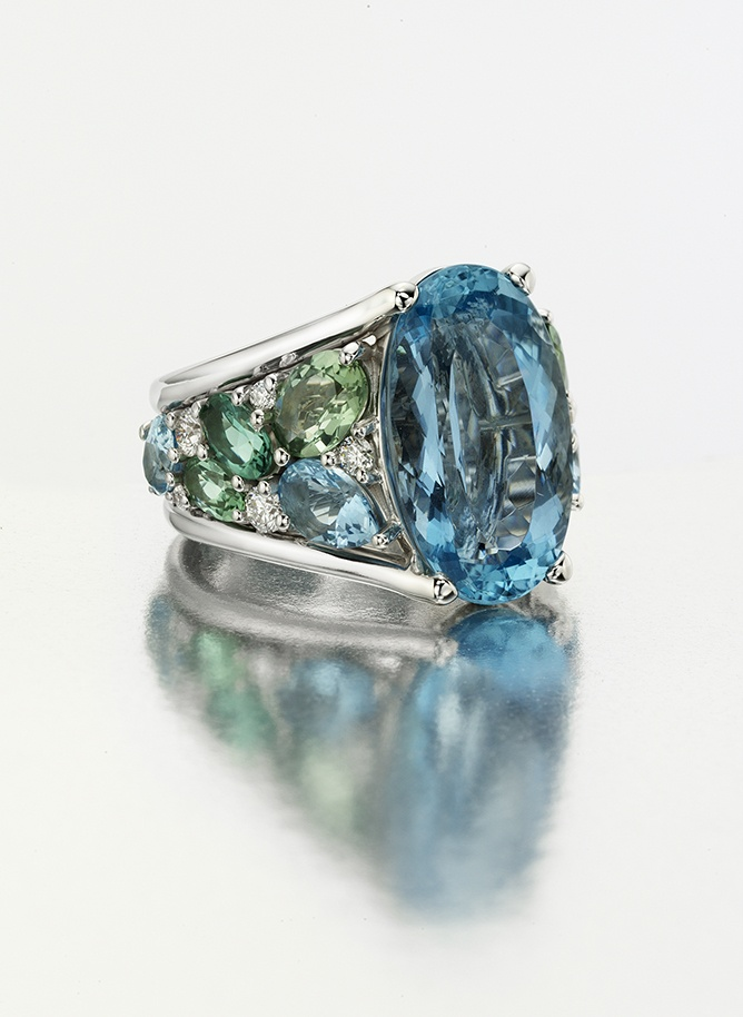 Aquamarine, Green and Blue Tourmaline from Mark Patterson Fusion Collection.