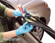 Repair weather stripping: Prevent frozen car doors and torn weather stripping  Read more: http://www.familyhandyman.com/automotive/car-maintenance/repairing-and-maintaining-car-door-weather-stripping/view-all