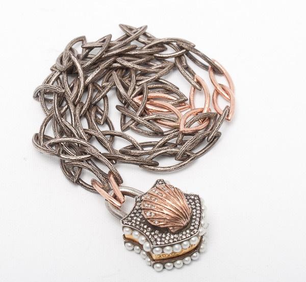 Sevan Bicakci, pearl, rose gold and silver lock  www.dresscodebygita.com