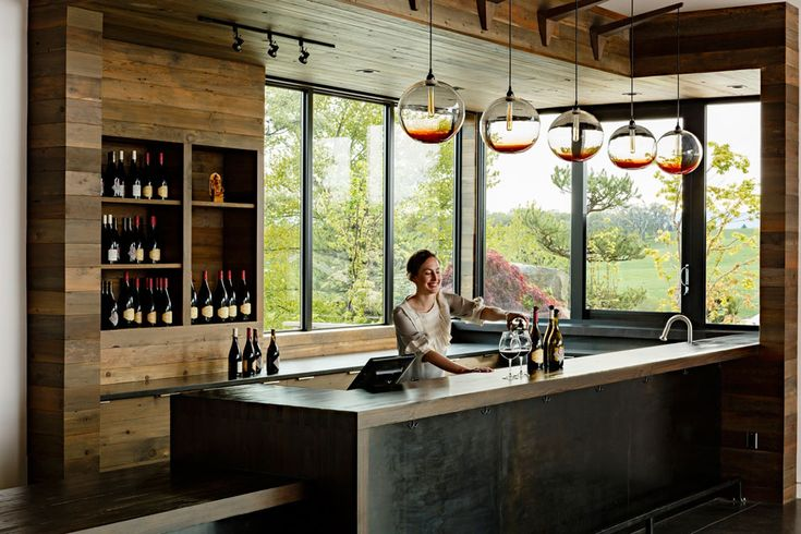 Saffron Fields Vineyard Tasting Room – Jessica Helgerson Interior Design