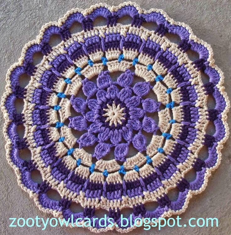 Crochet Owl Rug Pattern: Zooty Owl's Crafty Blog: Dahlia Mandala: Pattern