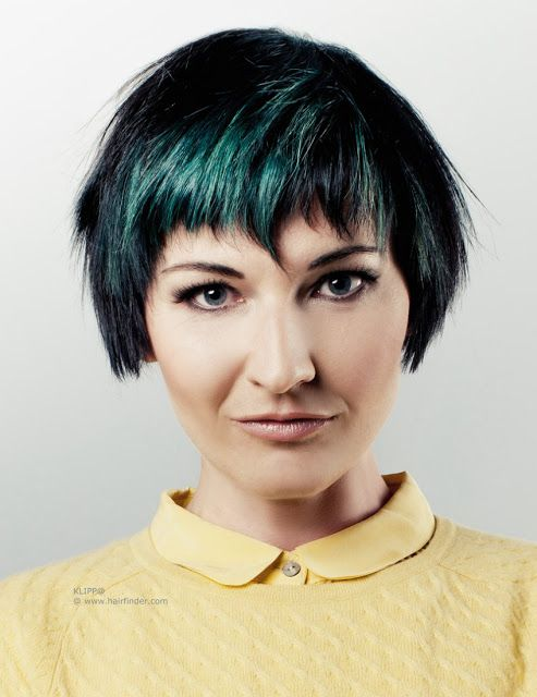 Gorgeous Short Haircuts in Green!
