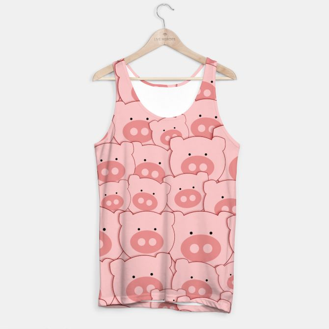 Piggy Pigs Pattern Tank Top