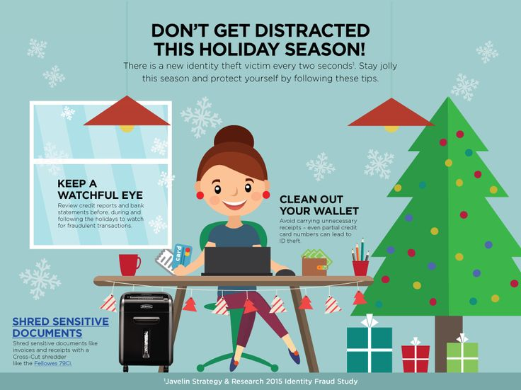 Why should you worry about how to protect yourself from identity theft during the holidays? The holidays are prime time for identity thieves. Increased use of credit cards and more online purchases create more opportunities for confidential data to be compromised. Here are some ways to prevent identity theft so you can securely enjoy the holiday season.