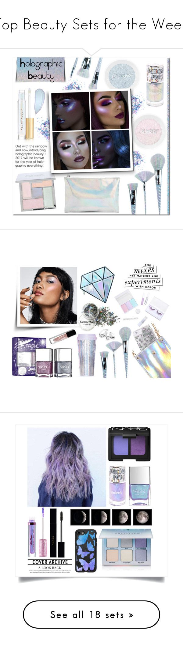 """""""Top Beauty Sets for the Week"""" by polyvore ❤ liked on Polyvore featuring beauty, Unicorn Lashes, Forever 21, Kevyn Aucoin, Ana Accessories, Miss Selfridge, Julep, Kate Spade, NARS Cosmetics and Lime Crime"""