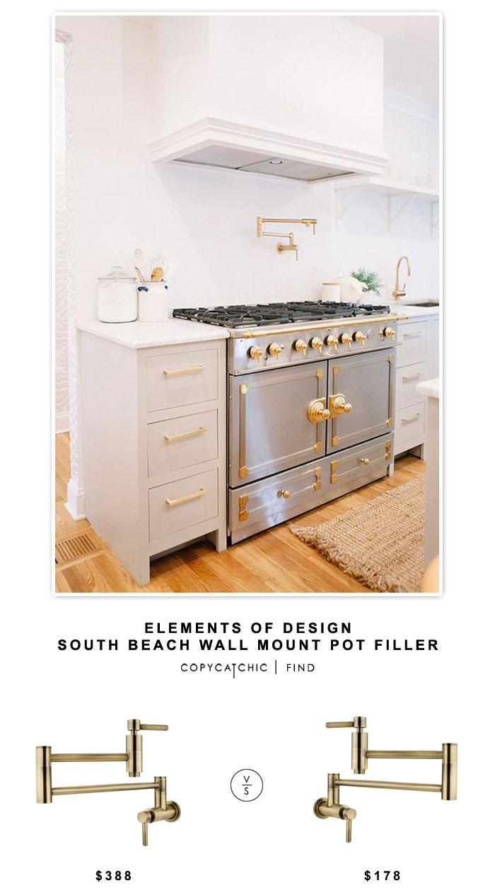 Wayfair Elements of Design South Beach Wall Mount Pot Filler for $370 vs Overstock Kingston Brass Concord Antique Brass Pot Filler for $178   @copycatchic look for less http://www.copycatchic.com/2016/09/elements-of-design-south-beach-wall-mount-pot-filler.html?utm_campaign=coschedule&utm_source=pinterest&utm_medium=Copy%20Cat%20Chic&utm_content=Elements%20of%20Design%20South%20Beach%20Wall%20Mount%20Pot%20Filler