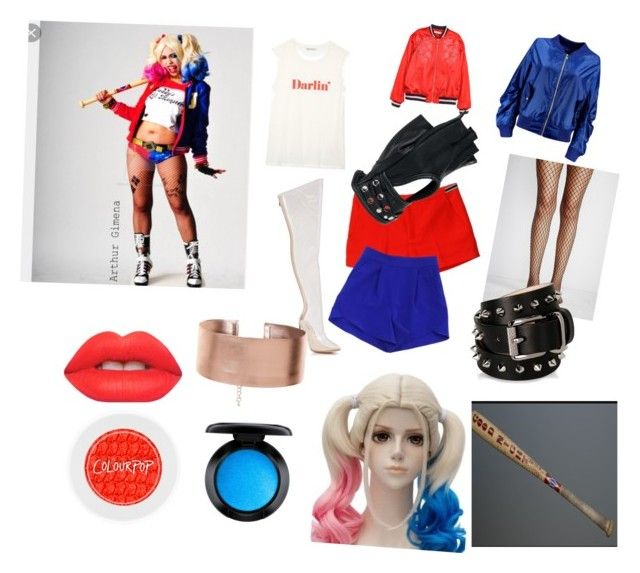 """""""Harley Quinn"""" by daisymaybowman on Polyvore featuring Rebecca Minkoff, Boohoo, Juicy Couture, Milly, Cape Robbin, Free People, Wilsons Leather, Barbara Bui, Lime Crime and MAC Cosmetics"""