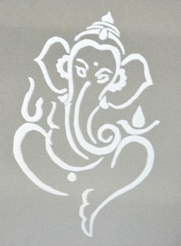 large Ganesh stencil - Google Search                                                                                                                                                                                 More