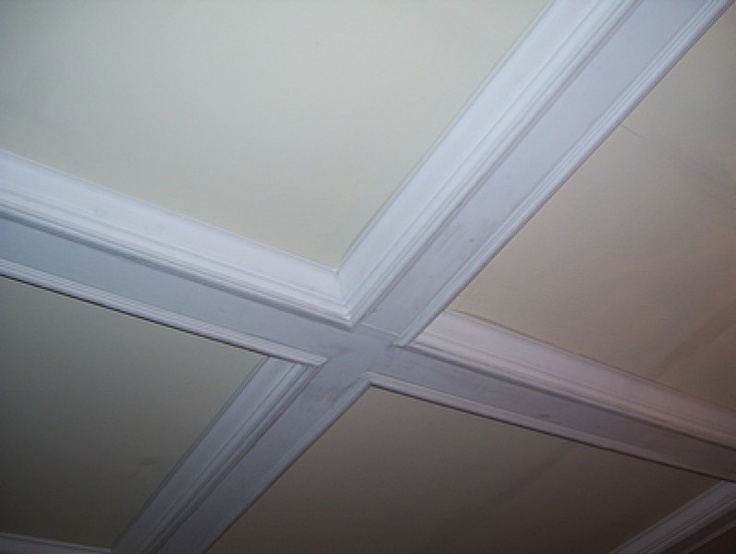 17 best images about for the home on pinterest painted for Foam coffered ceiling