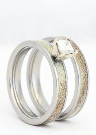 Wedding Rings Made Of Dinosaur Bone, Meteorite And Deer Antler | TheKnot.com