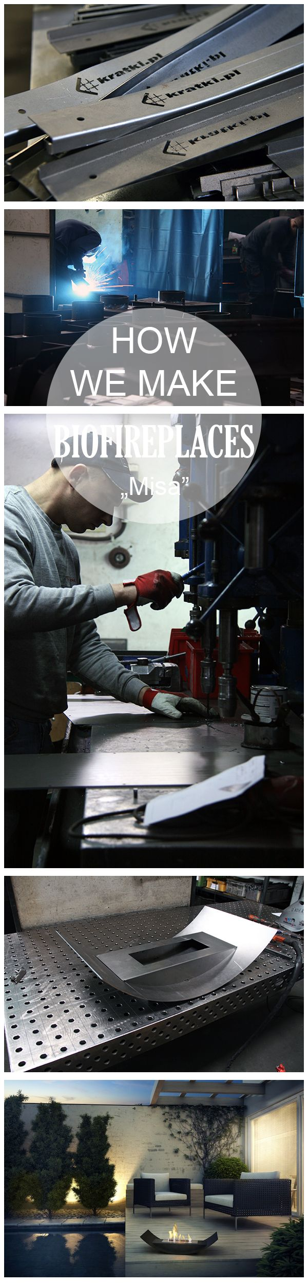 How we produce our bio fireplace? Take a look at production steps. Today we show MISA.